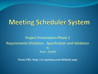 Meeting Scheduler System