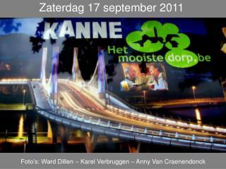 Zaterdag 17 september 2011