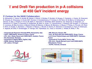   and Drell-Yan production in p-A collisions at 450 GeV incident energy