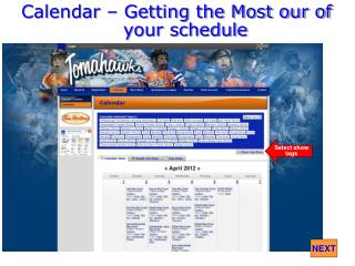 Calendar � Getting the Most our of your schedule