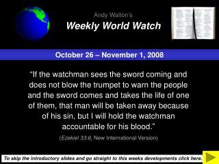 October 26 � November 1, 2008