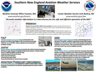 Southern New England Aviation Weather Services
