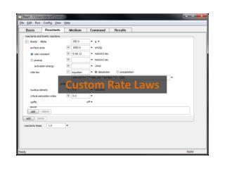Custom Rate Laws