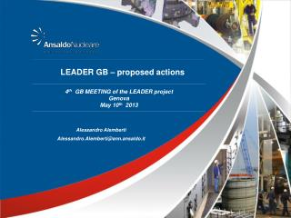 LEADER GB � proposed actions