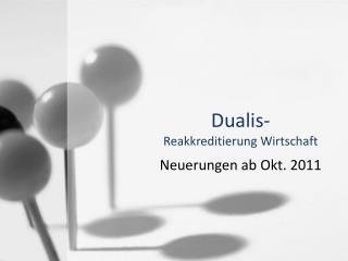 Dualis - Reakkreditierung Wirtschaft
