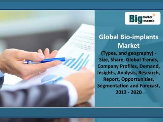 Global Bio-implants Market Forecast 2013-2020