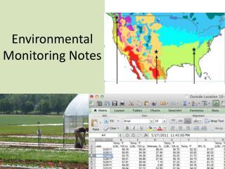 Environmental Monitoring Notes