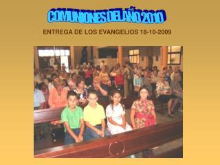 COMUNIONES DEL AÑO 2010