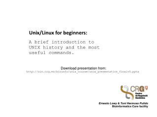 Unix/Linux for beginners: