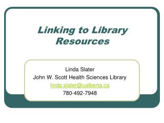 Linking to Library Resources