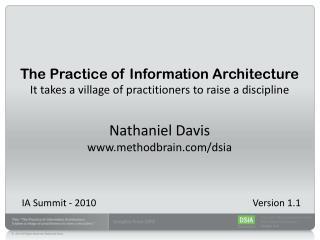 IA Summit - 2010