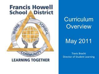Curriculum Overview May 2011 Travis Bracht Director of Student Learning