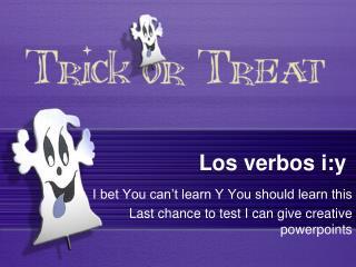 Los  verbos  i:y