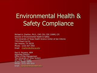 Environmental Health & Safety Compliance