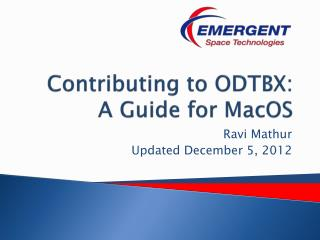 Contributing to ODTBX: A Guide for  MacOS