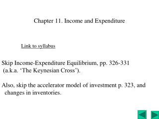 Chapter 11. Income and Expenditure
