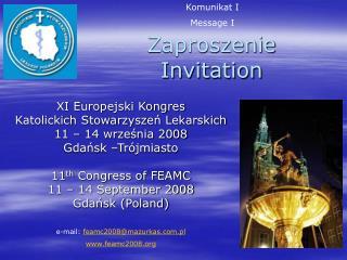 Zaproszenie Invitation