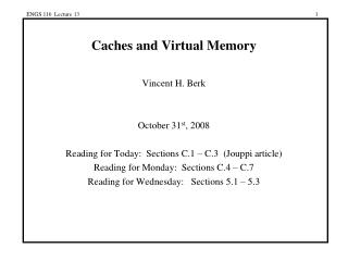 Caches and Virtual Memory
