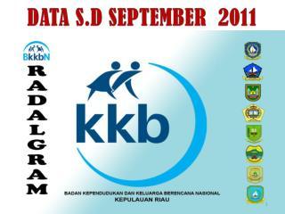 DATA S.D SEPTEMBER  2011
