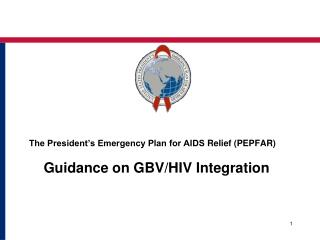 The President's Emergency Plan for AIDS  Relief (PEPFAR)  Guidance on GBV/HIV  Integration