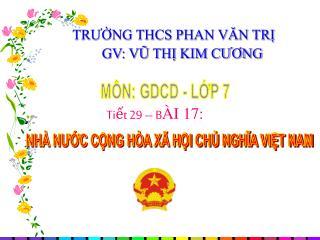 MÔN: GDCD - LỚP 7