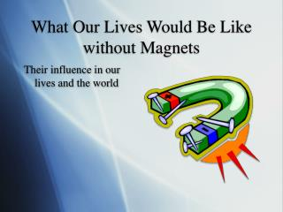 What Our Lives Would Be Like without Magnets