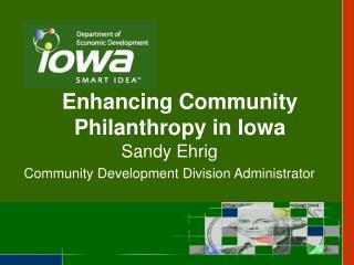 Enhancing Community Philanthropy in Iowa
