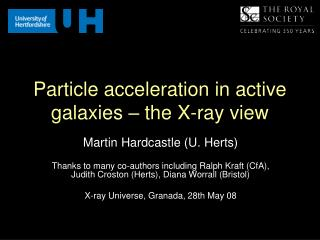 Particle acceleration in active galaxies � the X-ray view