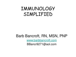 IMMUNOLOGY SIMPLIFIED