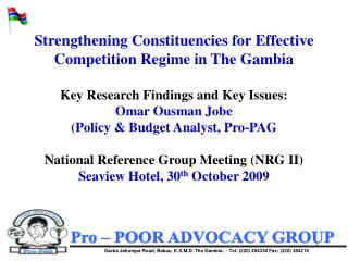 Pro – POOR ADVOCACY GROUP