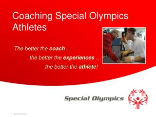 Coaching Special Olympics Athletes