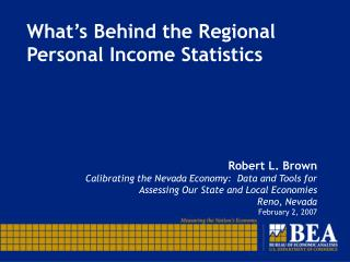 What's Behind the Regional Personal Income Statistics