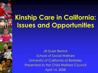 Kinship Care in California: Issues and Opportunities