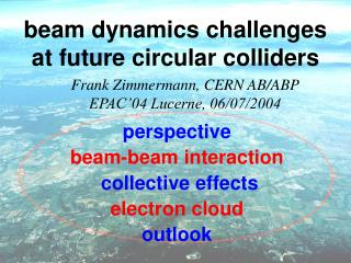beam dynamics challenges at future circular colliders