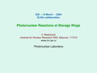Photonuclear Laboratory