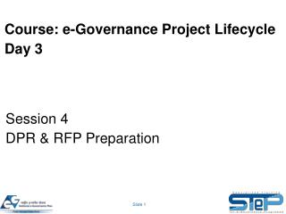 Course: e-Governance Project Lifecycle Day 3