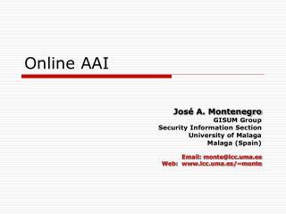 Online AAI