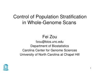 Control of Population Stratification in Whole-Genome Scans