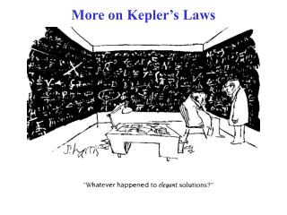 More on Kepler's Laws