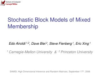 Stochastic Block Models of Mixed Membership