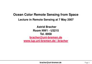 Ocean Color Remote Sensing from Space