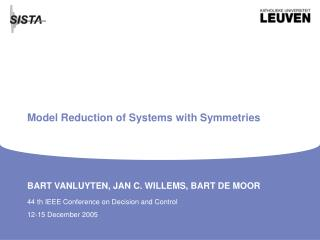 Model Reduction of Systems with Symmetries