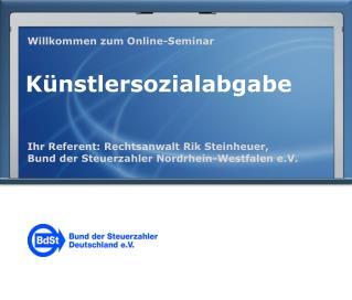 Willkommen zum Online-Seminar
