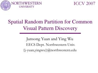 Spatial Random Partition for Common Visual Pattern Discovery