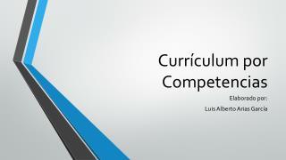 Currículum por Competencias