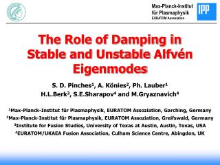 The Role of Damping in Stable and Unstable  Alfv �n Eigenmodes
