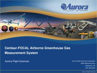 Centaur-FOCAL Airborne Greenhouse Gas Measurement System