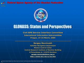 GLONASS: Status and Perspectives