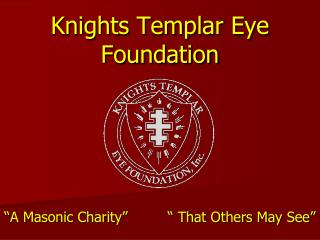 Knights Templar Eye Foundation