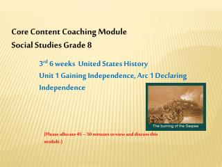 Core Content Coaching Module Social Studies Grade 8